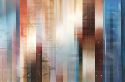 王建文 Composition en Space Temps λ  2015 油彩画布  96×145cm