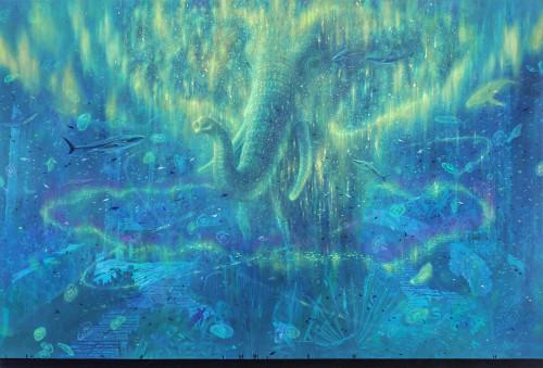 严靖杰 漂流系列:宇宙海洋观测站  2017 油彩画布 166x245cm