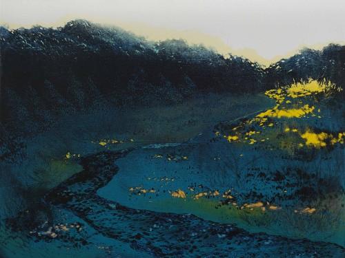 游雅兰  朝雾 2015 版画/木刻油印凸版 45×60cm 47.3×62.2cm(含框)