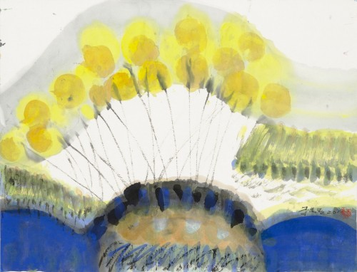 Lee Chung-Chung  Summer Dazzle  2010  Ink and Color on Paper   34.8×45.4cm