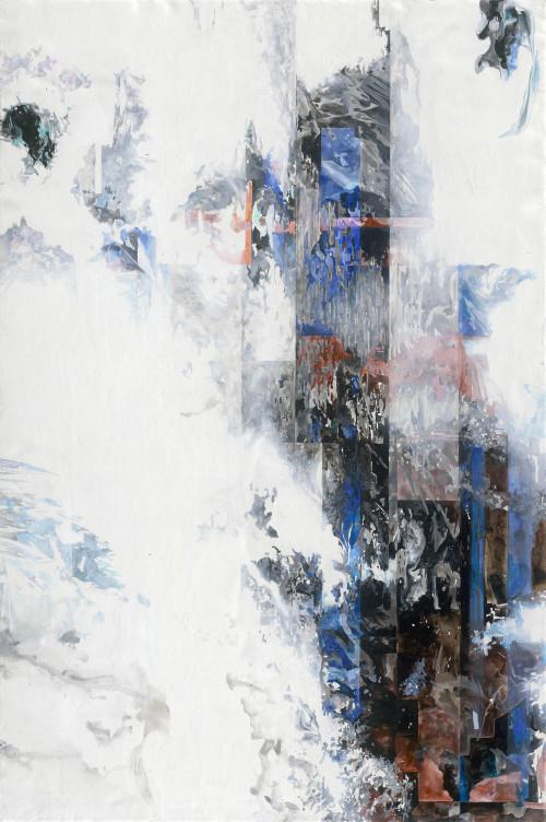 007.王建文_一縷滯留系列R_2019_油彩、壓克力、畫布_145 x 97 cm
