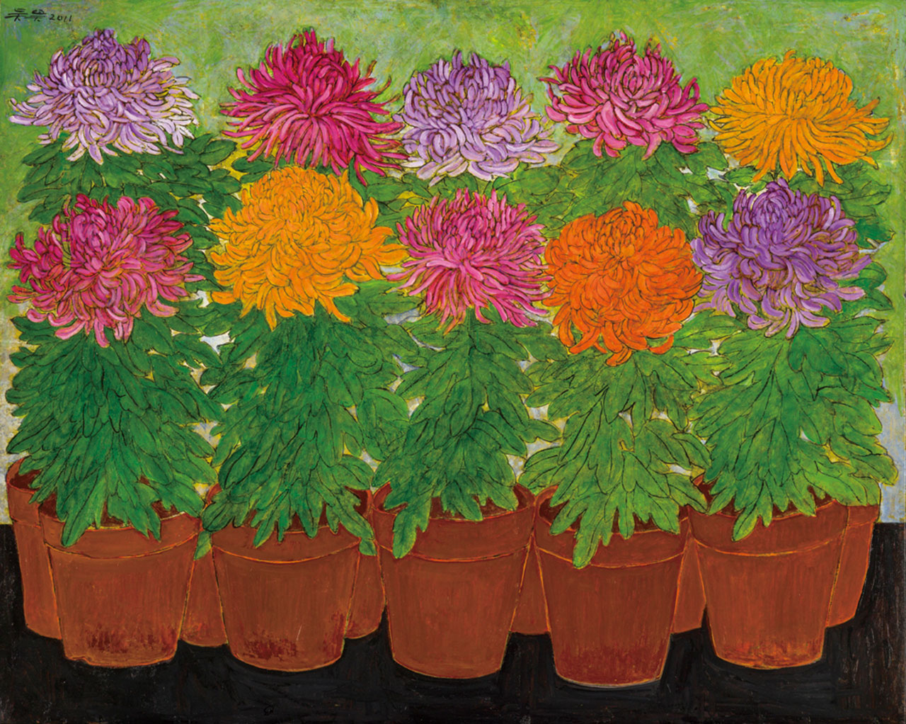 Chrysanthemum in Bloom Oil on linen 73x91cm
