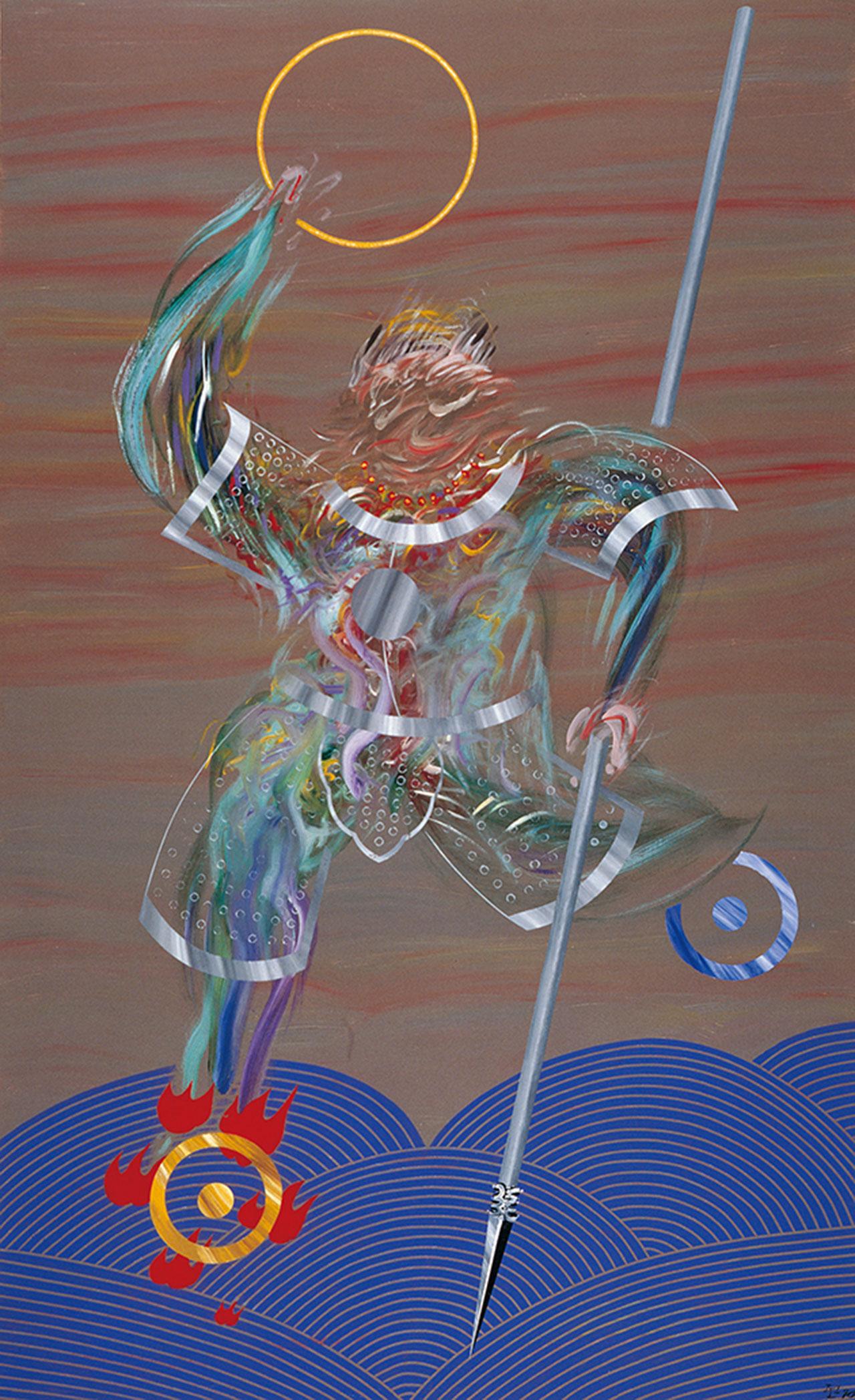 Tai Tzu Yei Acrylic on canvas 183x112cm