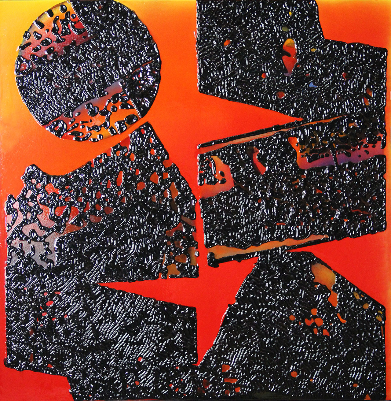 The Elegance of Han Dynasty Oriental19 Lacquer, mixed media 100x100cm