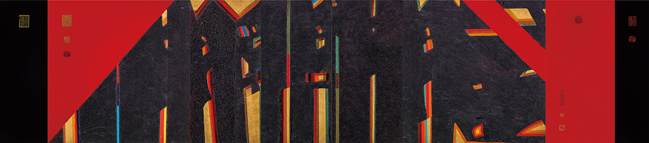 The Elegance of Han Dynasty Oriental 2014-8 Lacquer, mixed media 100x460cm