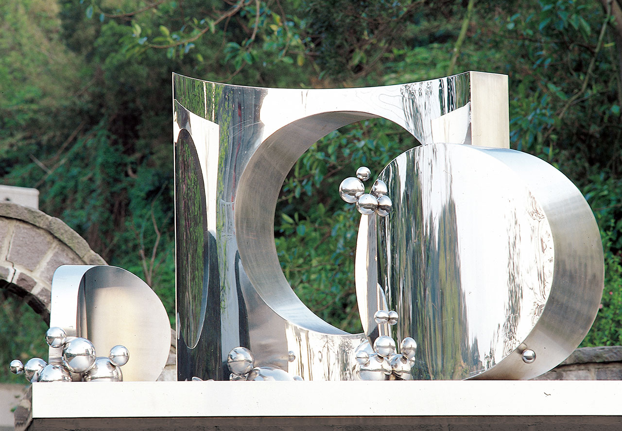 Cosmic Encounter Stainless steel 77x120x72cm