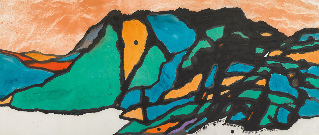March Affairs III Acrylic and ink on paper 109x241cm(29.2才)