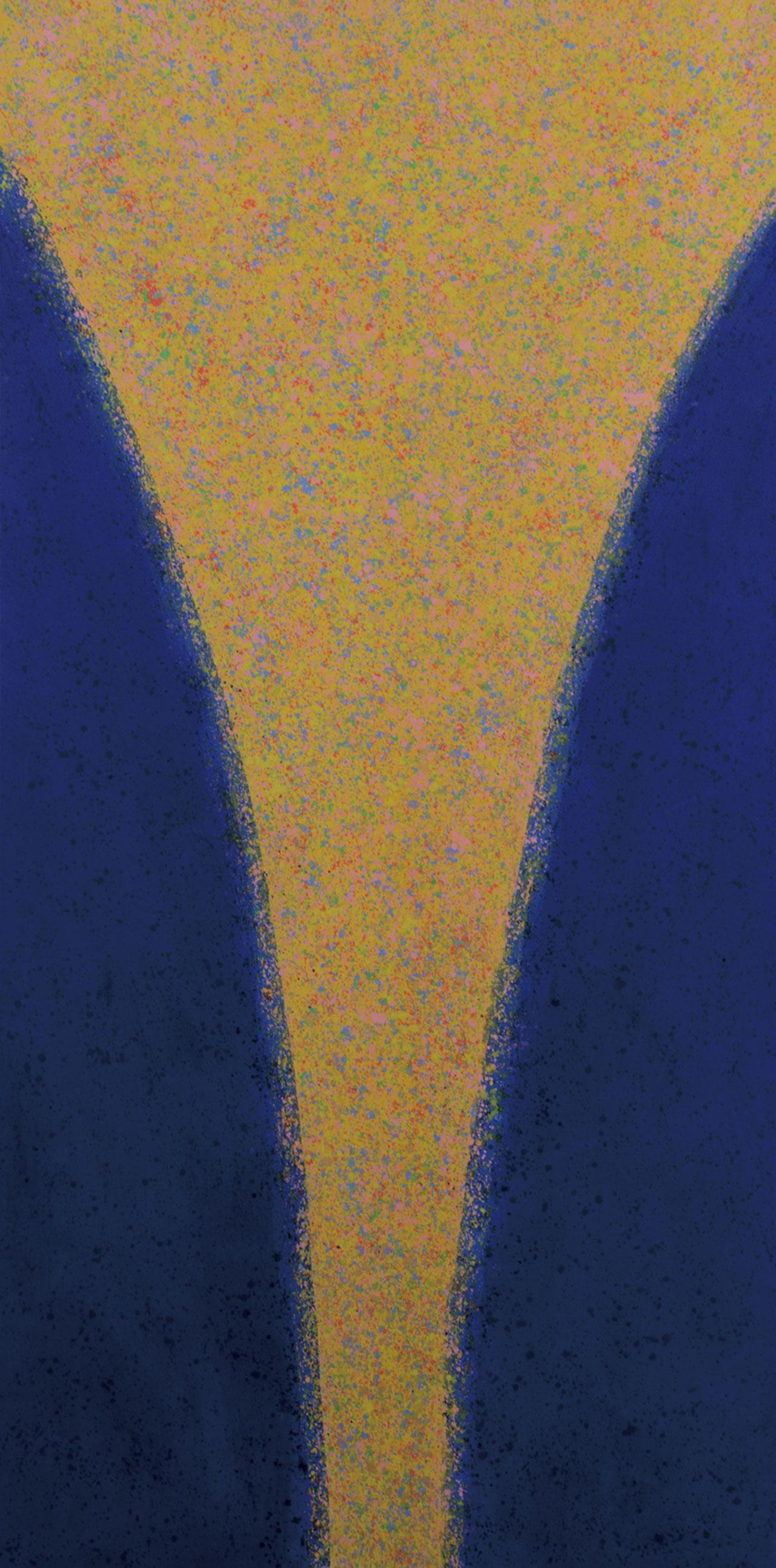 La Luce Divina Acrylic on canvas 300x150cm