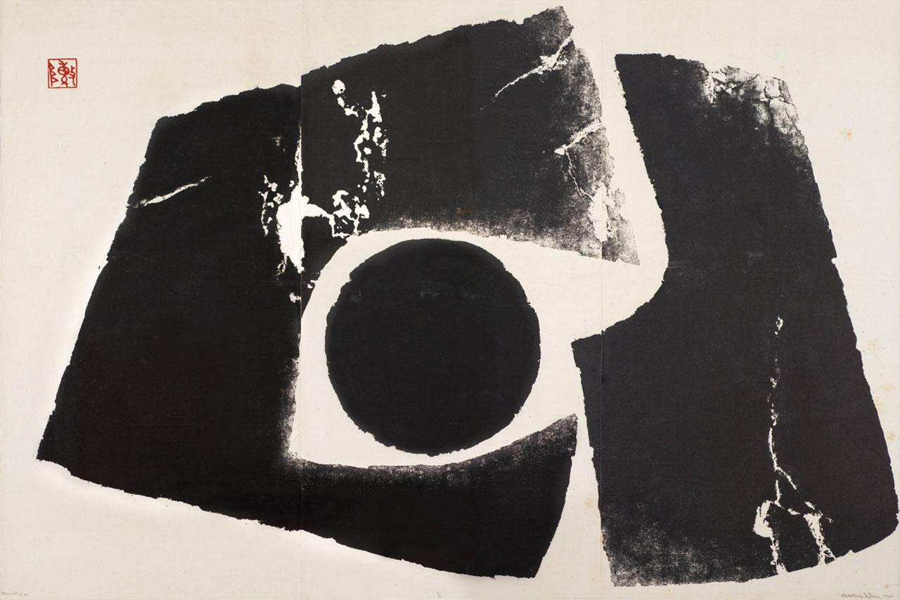 Hibernating#11 Woodblock print on paper 120x180cm