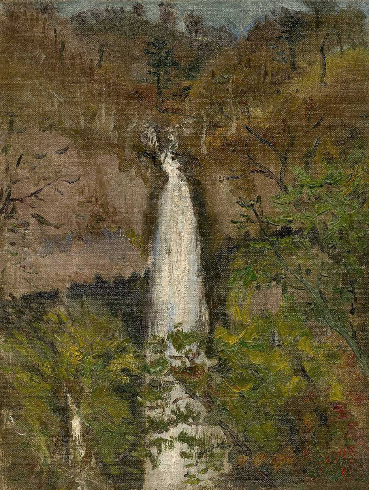 Kegon Waterfall Oil on canvas 41.2x32.6
