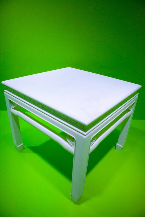 Marshal Tie Jia – White Square Table Installation