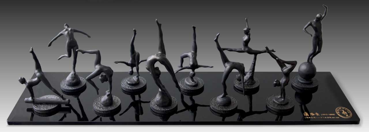 Gymnastic Series Commemorative Edition 2 Bronze alloy 72x15x20 cm
