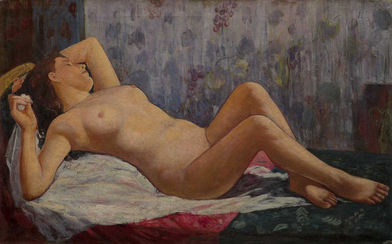 浴後 Oil on canvas 50M