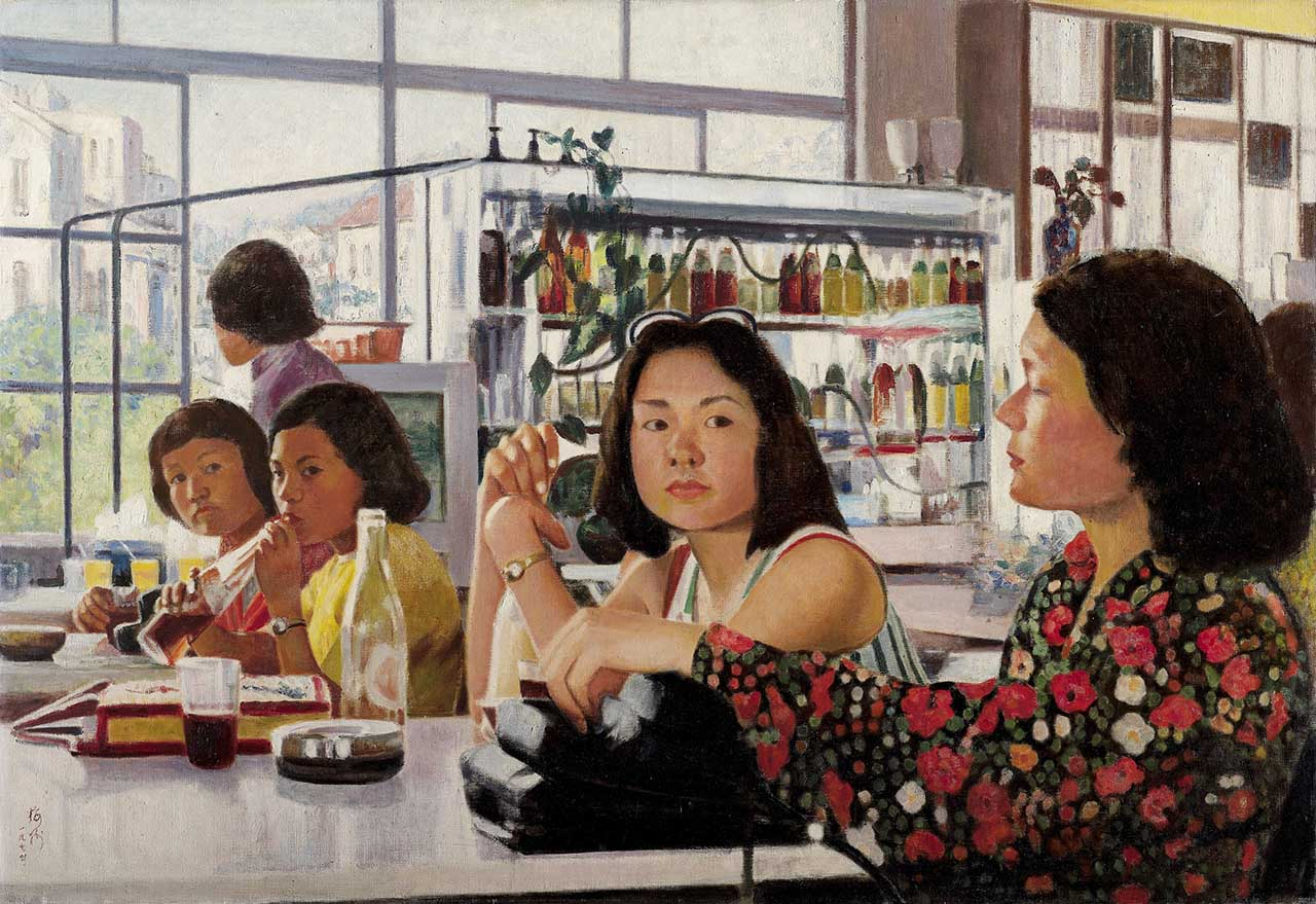 Cold Drink and Fruit Shop Oil on canvas 60P