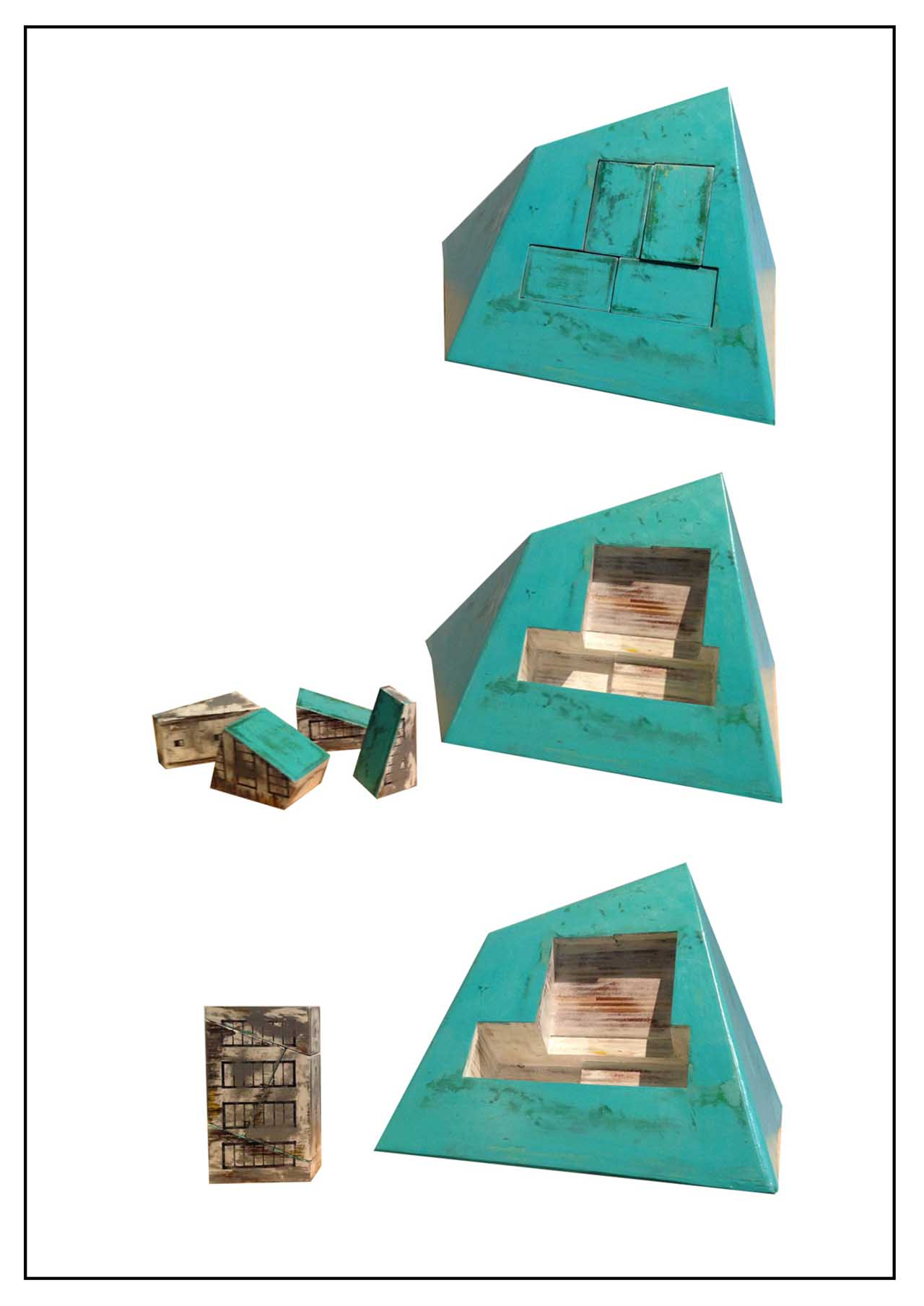Mountain House no.1 Plastic wood 60X48X35cm