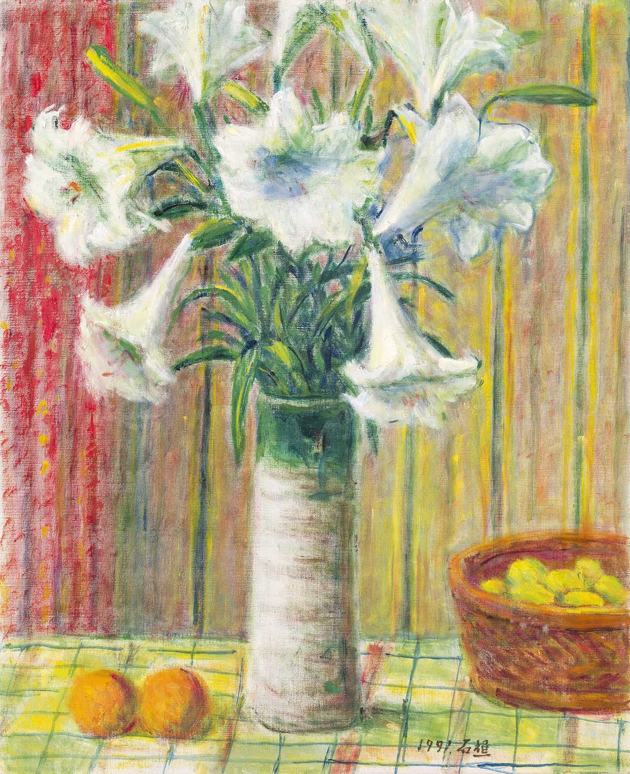 Vase of Lily Oil on canvas 12F