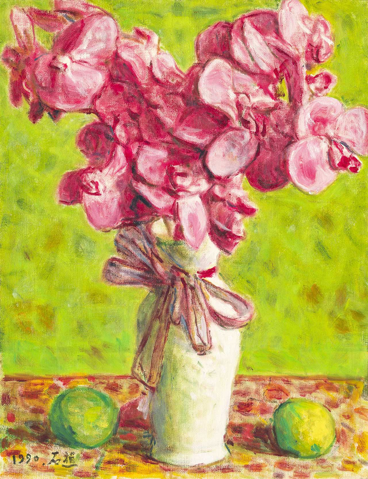 Vase of Orchid Oil on canvas 6F