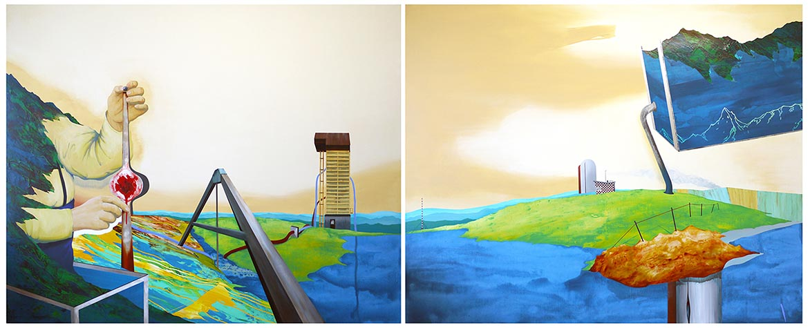 Beyond the Silence 04-Local Laboratory Acrylic on canvas 130x324cm
