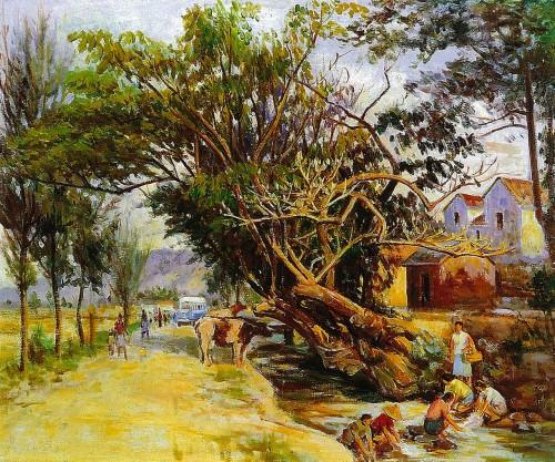 樹梢水音 Oil on canvas 15F