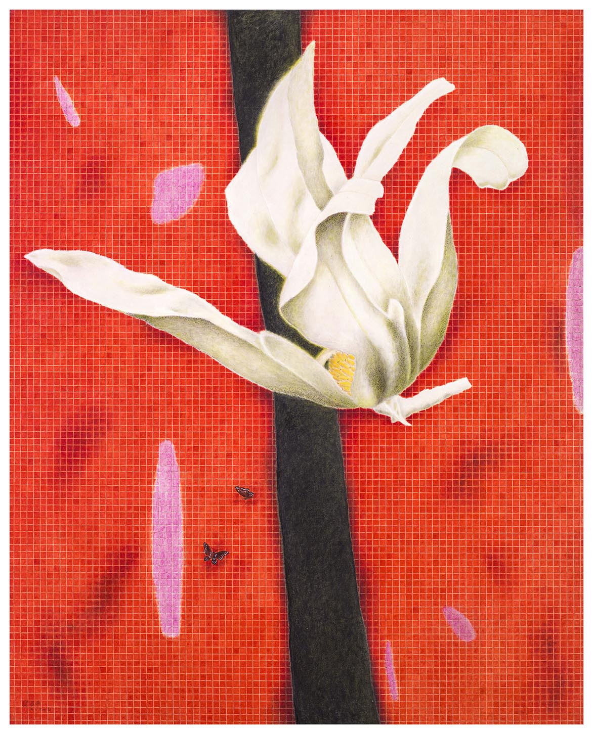 Blooming Magnolia – Red Oil on canvas 162x130cm