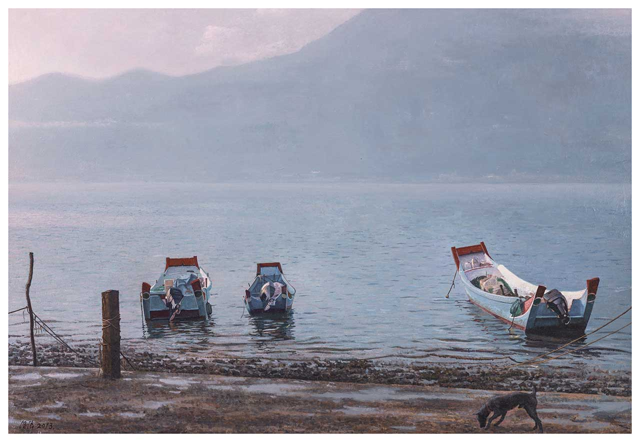 Dawn of Tamsui Oil on canvas 50P