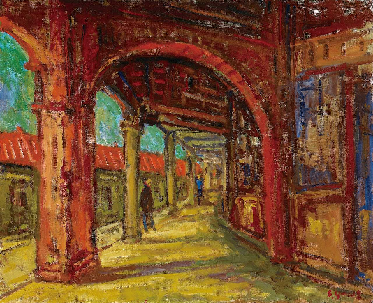 Jinshan Old Street Oil on canvas 65x80 cm