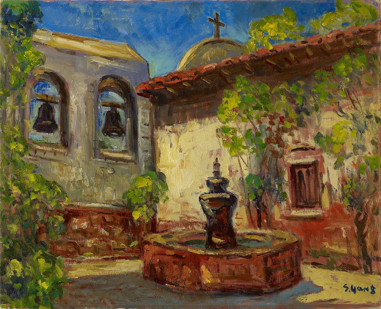 Inside Cloister Oil on canvas 65.2x80.3 cm