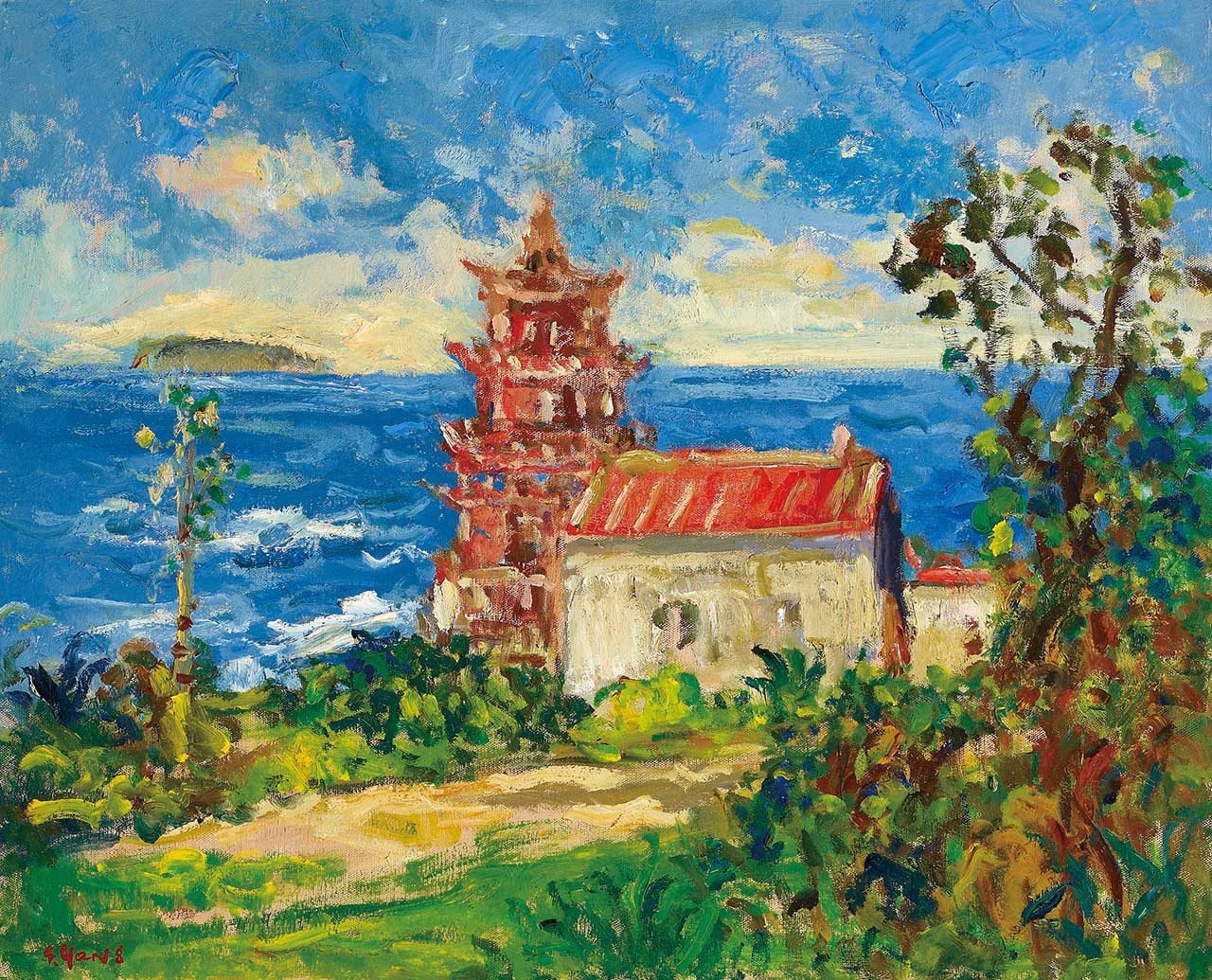 Xiamen Oil on canvas 65x79.5 cm