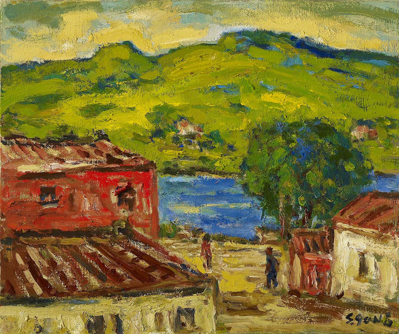 Tamkang Oil on canvas 38x45 cm