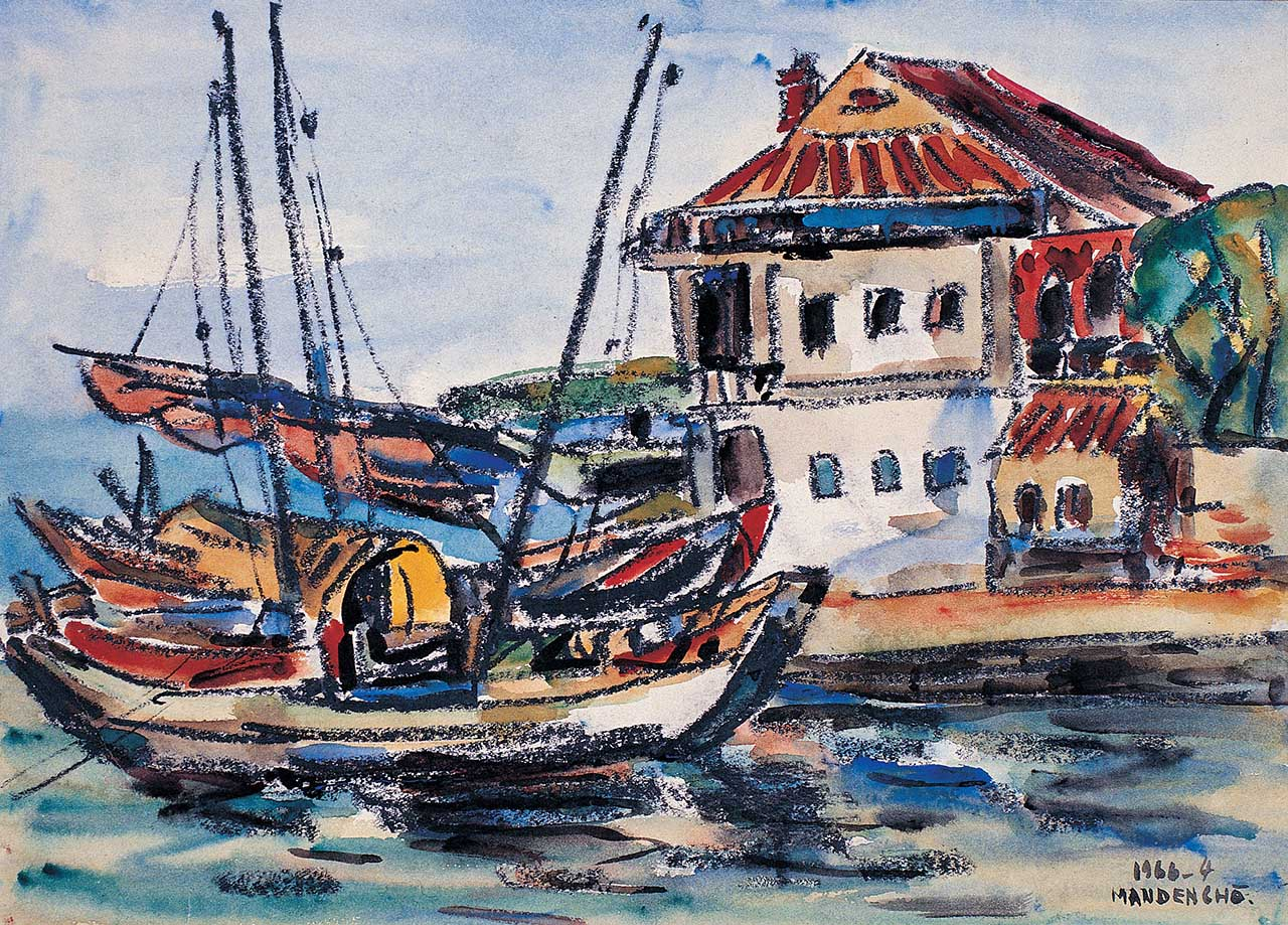 Tamsui Junk Boat Watercolor on paper 5F
