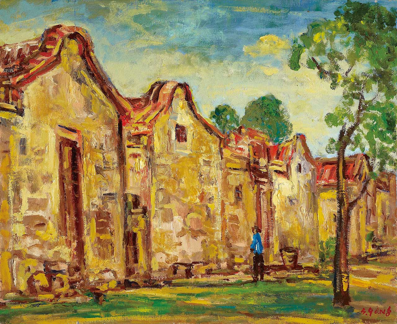Old House in Penghu Oil on canvas 65x80 cm