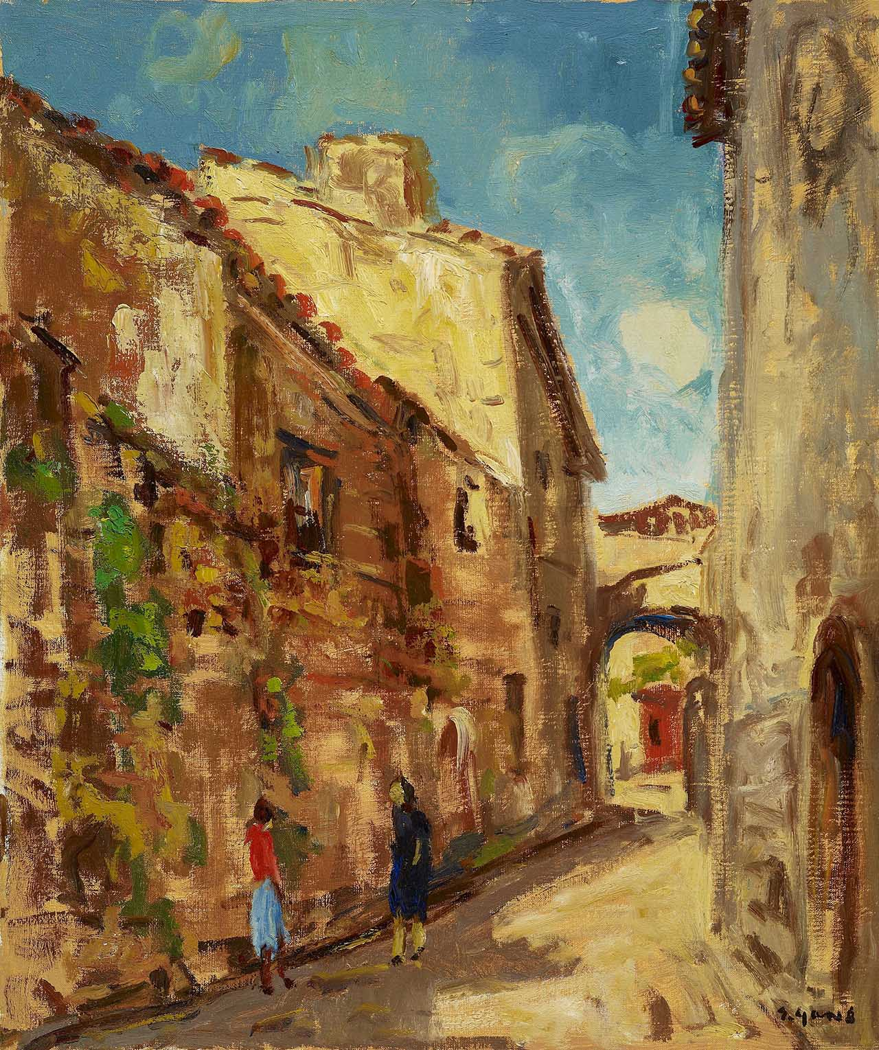 Spanish Old House Oil on canvas 72.7x60.8 cm
