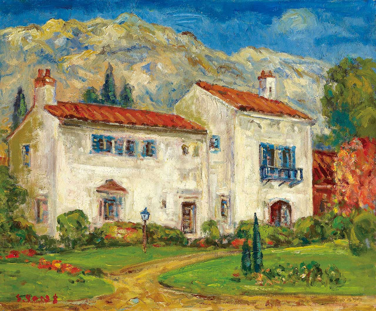 Spanish White Building Oil on canvas 60.5x72.7cm