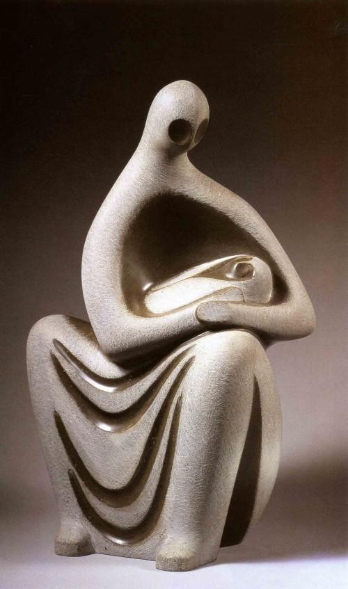 CHEN Yin-Jye Mother and Child B 1989 Fiberglass 45×27×21cm