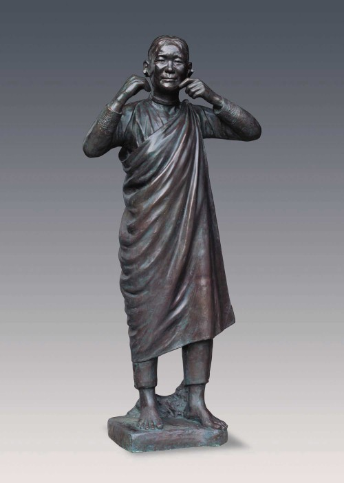 CHIU Yunn Atayal (woman) 2006 Copper 160x64x35cm Photo Credits: National Taiwan Museum