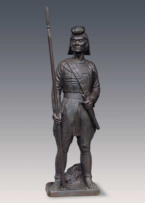 CHIU Yunn Rukai (man) 2006 Copper 175x47x32cm Photo Credits: National Taiwan Museum