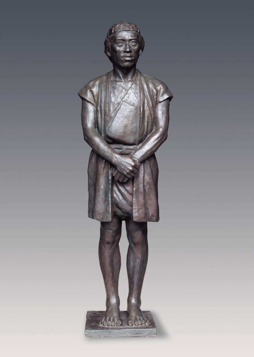 CHIU Yunn Thao (man) 2006 Copper 167x52x38cm Photo Credits: National Taiwan Museum
