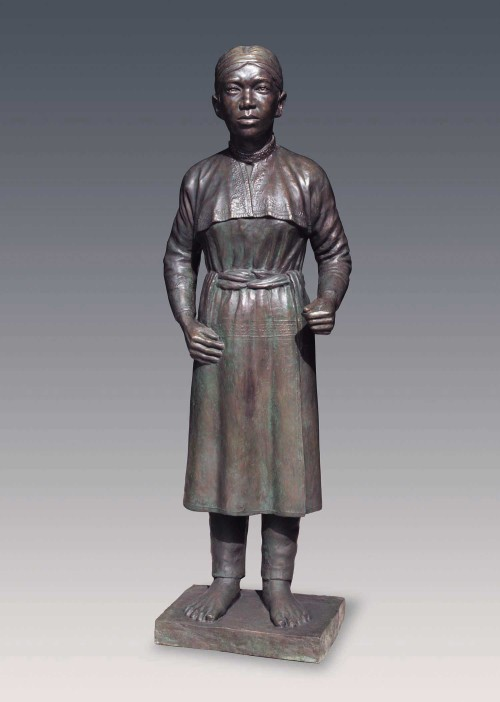 CHIU Yunn Thao (woman) 2006 Copper 151x47x37cm Photo Credits: National Taiwan Museum