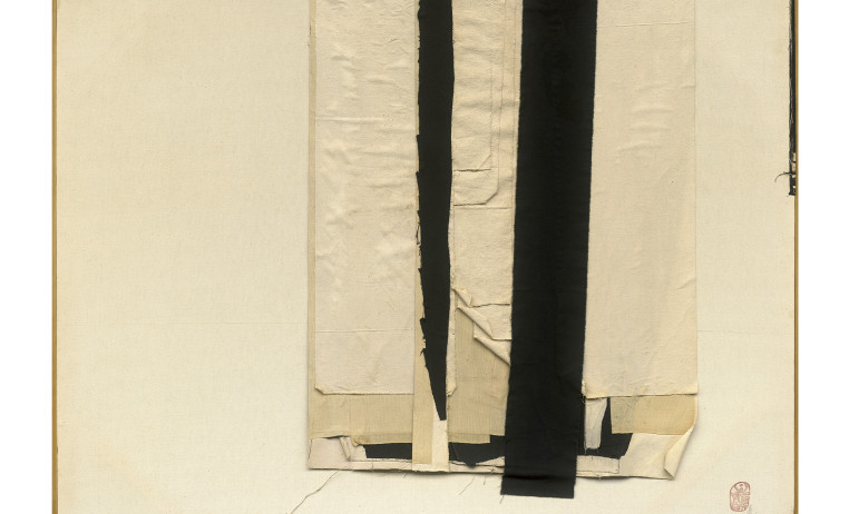 CHU Wei-Bor_Untitle 1986_Mixed media, cotton_116x146cm_1986