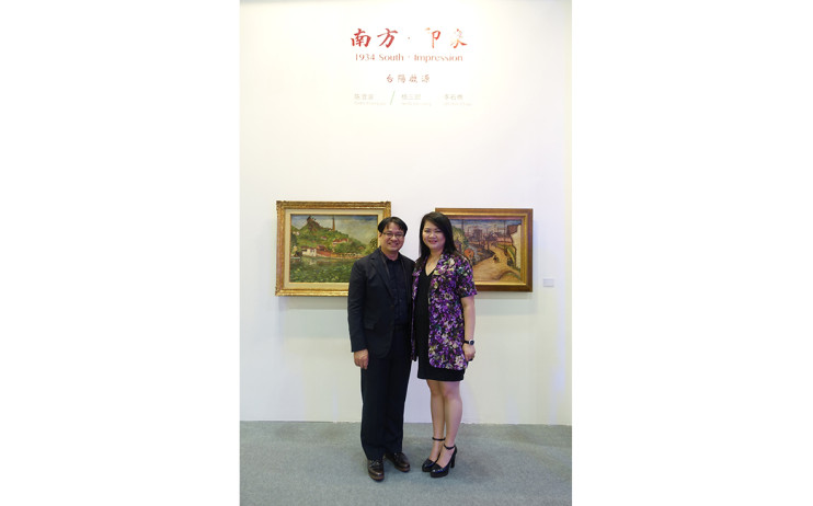 Liang Gallery President, Yu Yen-Liang and Director, Claudia Chen