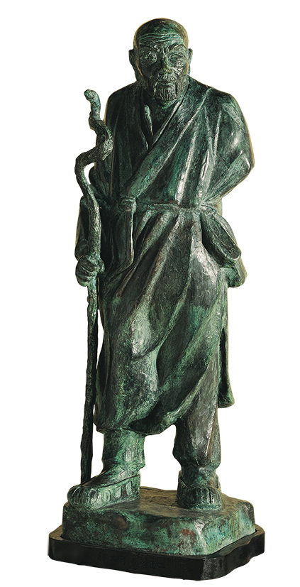 HO Ming-Chi  Six Zen Masters –  Hui Ke, the Second Patriarch 1987 Bronze 84×34×30cm  Photo Credit: Taipei Fine Arts Museum