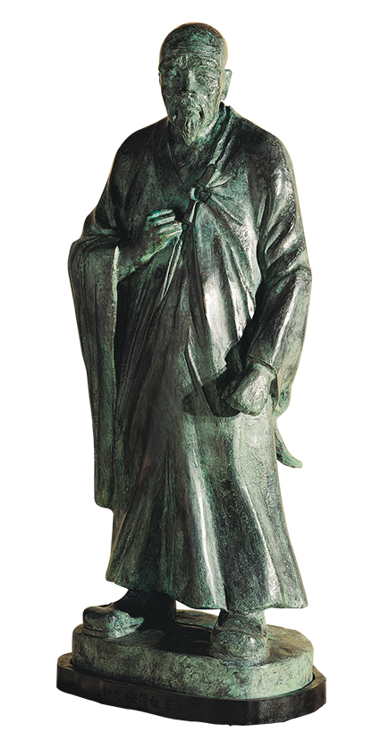 HO Ming-Chi  Six Zen Masters –  Seng Tsan, the Third Patriarch 1987 Bronze 82×32×28cm Photo Credit: Taipei Fine Arts Museum