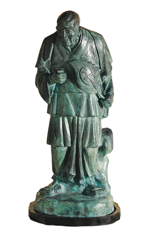 HO Ming-Chi  Six Zen Masters – Hui Neng, the Sixth Patriarch 1987 Bronze 80×35×35cm Photo Credit: Taipei Fine Arts Museum