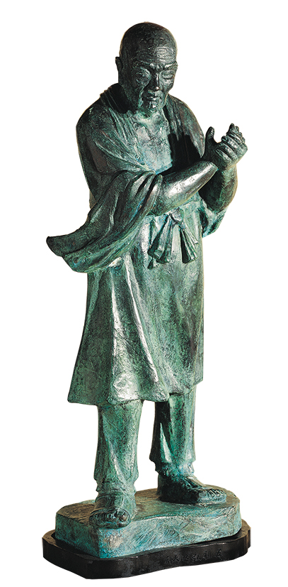 HO Ming-Chi  Six Zen Masters – Hung Jen, the Fifth Patriarch 1987 Bronze 77×31×31cm Photo Credit: Taipei Fine Arts Museum