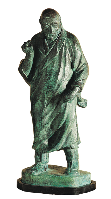 HO Ming-Chi  Six Zen Masters –  Tao Hsin, the Fourth Patriarch 1987 Bronze 81×31×29cm Photo Credit: Taipei Fine Arts Museum