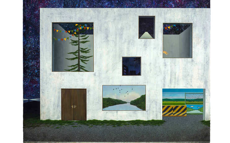 Hu Chau-Tsung Home - Celebration 2015 Acrylic on canvas panels  130×162cm