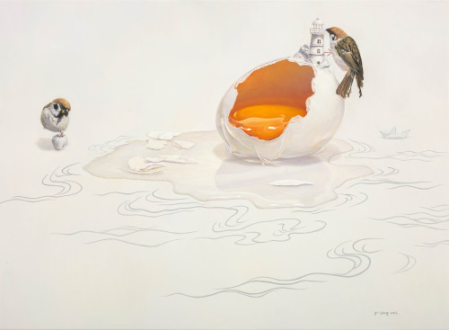 Huang Yi-Sheng Gentle Existance 2015 Oil on Canvas 53×72.5cm