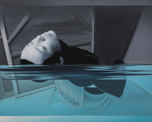 Lin Hung-Hsin Swimmer I  2015 Oil on canvas  130.5×162.5 cm