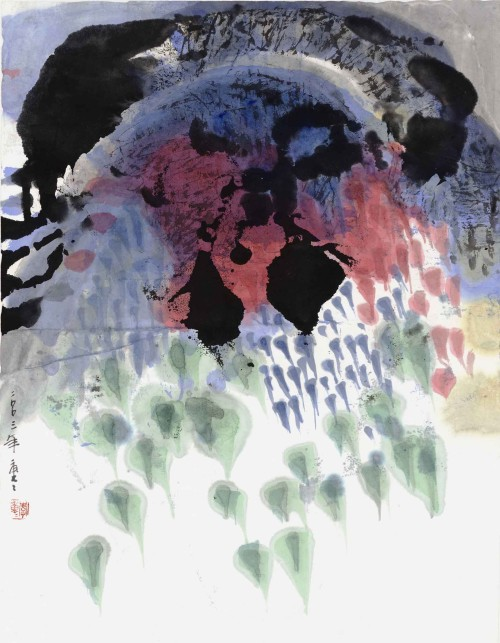 Lee Chung-Chung Into the Wind 2003 Ink and Color on Paper  45×35cm