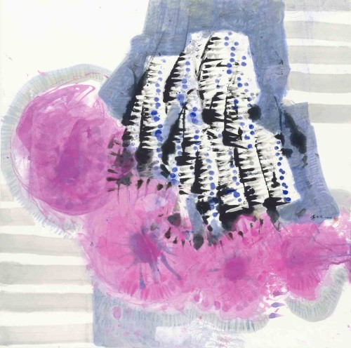 Lee Chung-Chung Spring Sounds 2014 Ink and Color on Paper  89.5×90cm